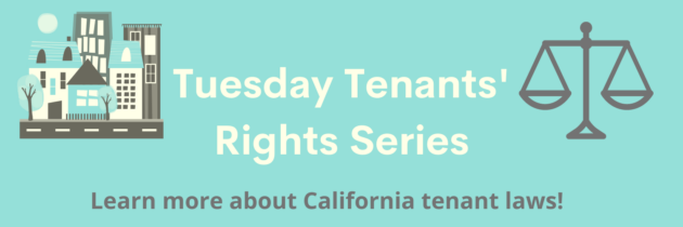 Join an upcoming Zoom presentation on California Tenants' Rights!